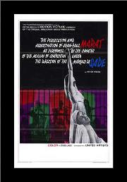 Marat De Sade art print poster with simple frame