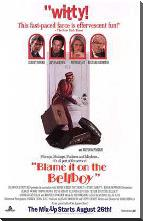 Blame it on the Bellboy art print poster with block mounting