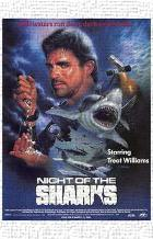 Night of the Sharks art print poster transferred to canvas