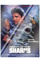 Night of the Sharks art print poster with laminate