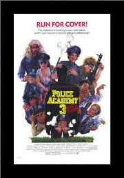 Police Academy 3 Back in Training art print poster with simple frame