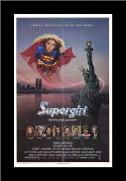 Supergirl art print poster with simple frame