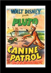 Canine Patrol art print poster with simple frame