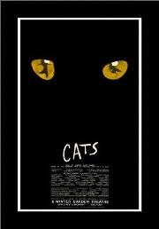Cats (Broadway Musical) art print poster with simple frame
