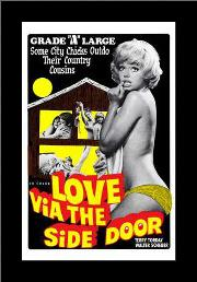 Love Via the Side Door art print poster with simple frame