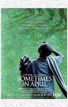Sometimes in April art print poster transferred to canvas