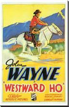 Westward Ho art print poster with block mounting