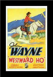 Westward Ho art print poster with simple frame