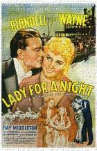 Lady for a Night art print poster transferred to canvas