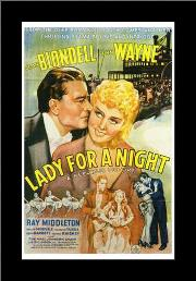 Lady for a Night art print poster with simple frame