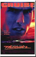 Days of Thunder art print poster with block mounting
