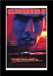 Days of Thunder art print poster with simple frame