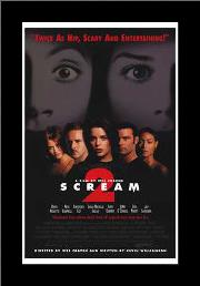 Scream 2 art print poster with simple frame