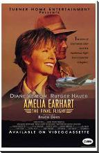 Amelia Earhart: the Final Flight art print poster with block mounting