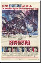 Krakatoa East of Java art print poster with block mounting