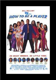 How to Be a Player art print poster with simple frame