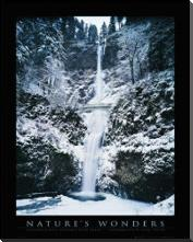 Columbia River Gorge art print poster with block mounting