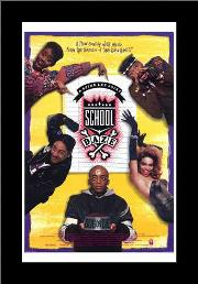 School Daze art print poster with simple frame