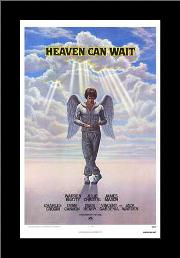 Heaven Can Wait art print poster with simple frame