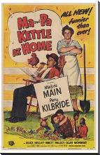 Ma Pa Kettle At Home art print poster with block mounting