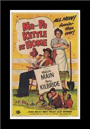 Ma Pa Kettle At Home art print poster with simple frame