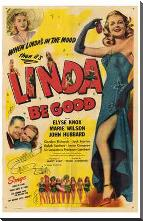 Linda Be Good art print poster with block mounting