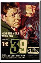 39 Steps, the art print poster with block mounting