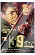 39 Steps, the art print poster with laminate