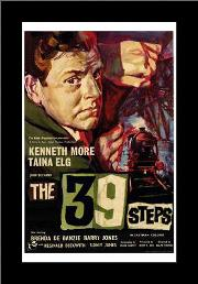 39 Steps, the art print poster with simple frame