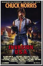 Invasion Usa art print poster with block mounting