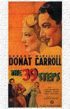 39 Steps, the art print poster transferred to canvas