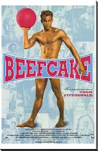 Beefcake art print poster with block mounting