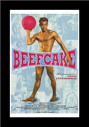 Beefcake art print poster with simple frame