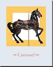 Carousel IV art print poster with block mounting