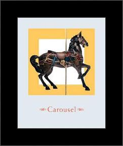 Carousel IV art print poster with simple frame