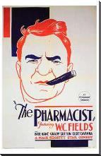 Pharmacist, the art print poster with block mounting