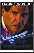 Air Force One art print poster with block mounting