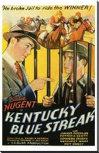 Kentucky Blue Streak art print poster with block mounting