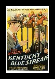 Kentucky Blue Streak art print poster with simple frame