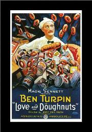 Love and Doughnuts art print poster with simple frame