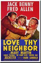 Love Thy Neighbor art print poster with block mounting