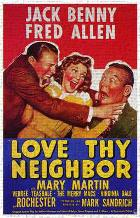 Love Thy Neighbor art print poster transferred to canvas