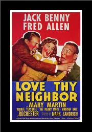 Love Thy Neighbor art print poster with simple frame