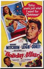 Holiday Affair art print poster with block mounting