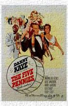 Five Pennies, the art print poster transferred to canvas