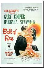 Ball of Fire art print poster with block mounting