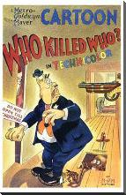 Who Killed Who art print poster with block mounting