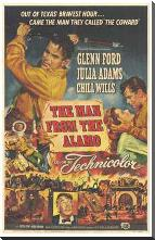 Man from the Alamo, the art print poster with block mounting