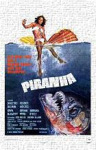 Piranha art print poster transferred to canvas