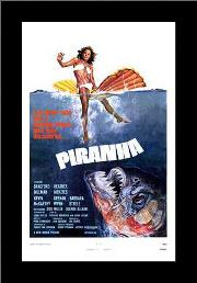 Piranha art print poster with simple frame